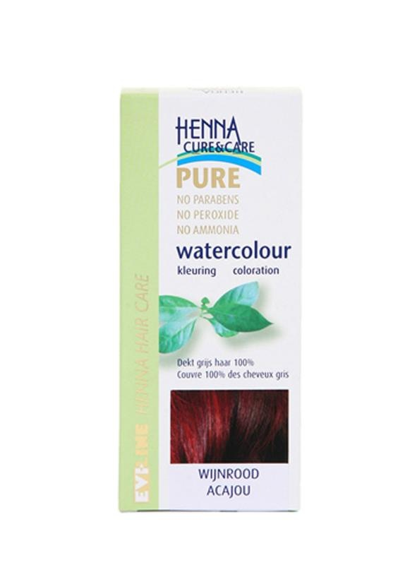 Henna Cure & Care Henna Cure & Care Watercolour wijnrood (5 gram)