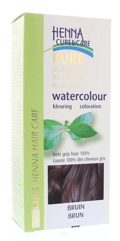 Henna Cure & Care Henna Cure & Care Watercolour bruin (5 gram)