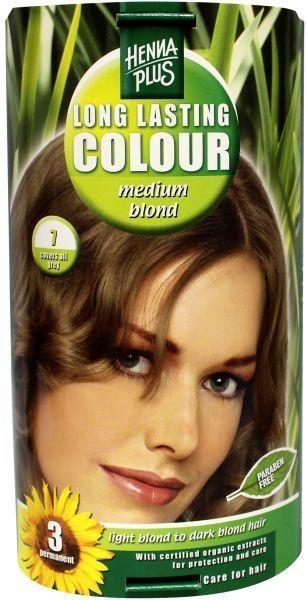 Henna Plus Long lasting colour 7 medium blond (100 ml)