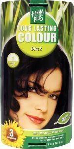 Henna Plus Long lasting colour 1 black (100 ml)