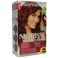 Garnier Nutrisse ultra color 6.6 vurig rood (1 set)