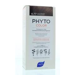 Phyto Paris Phytocolor marron clair cappuccino 6.77 (1 stuks)