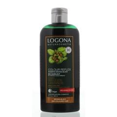 Logona Kleurshampoo bruin zwart bio hazelnoot (250 ml)