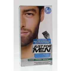 Just For Men Snor en baard donker bruin m45 (24 gram)