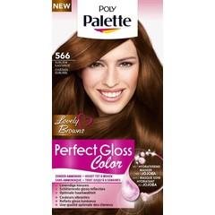 Poly Palette Perfect Gloss Haarverf 566 Subliem Kastanje (1 set)
