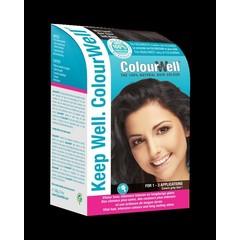 Colourwell 100% natuurlijke haarkleuring mild zwart (100 gram)