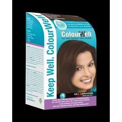 Colourwell 100% natuurlijke haarkleur donker kastanje bruin (100 gram)
