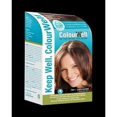 Colourwell 100% natuurlijke haarkleuring kastanje bruin (100 gram)