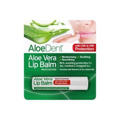 Optima Aloe dent aloe vera lippenbalsem stick (4 gram)