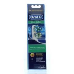 Oral B Opzetborstel EB417 dual clean (2 stuks)