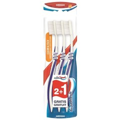 Aquafresh Tandenborstel clean flex medium (3 stuks)