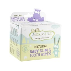 Jack N Jill Natural baby gum & tooth wipes (25 stuks)