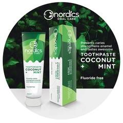 Nordics Natuurlijke tandpasta kokosnoot munt fluorvrij (75 ml)