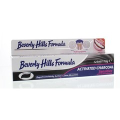 Beverly Hills Tandpasta naturel whitening active charcoal (125 ml)