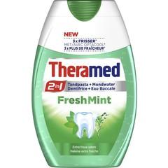 Theramed 2 in 1 Fresh mint tandpasta (75 ml)