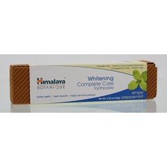 Himalaya Tandpasta botanical whitening complet c peppermint (150 gram)