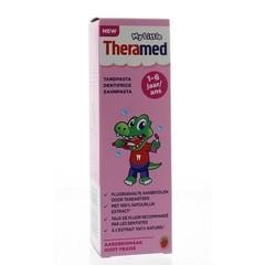 Theramed Junior aardbei 3+ tandpasta tube (50 ml)