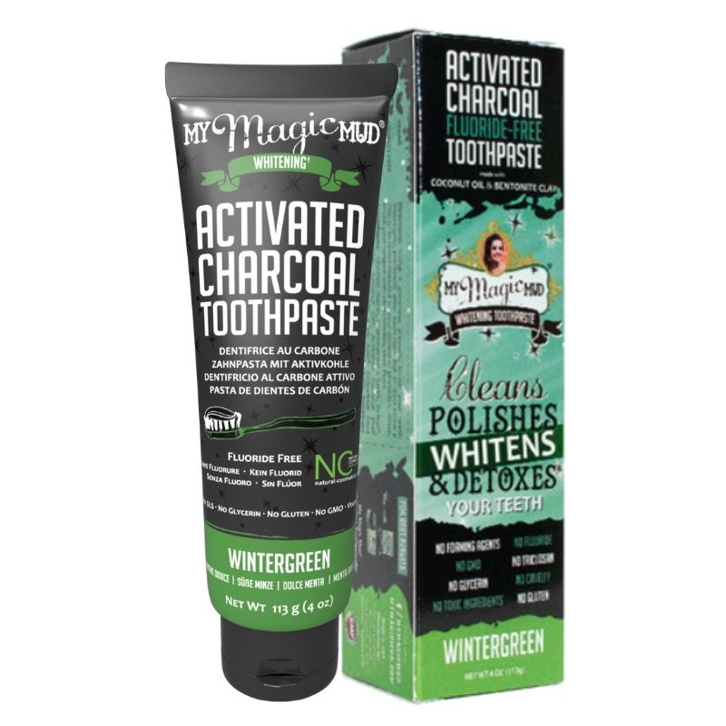 MY Magic Mud Actieve kool tandpasta wintergreen (113 gram)