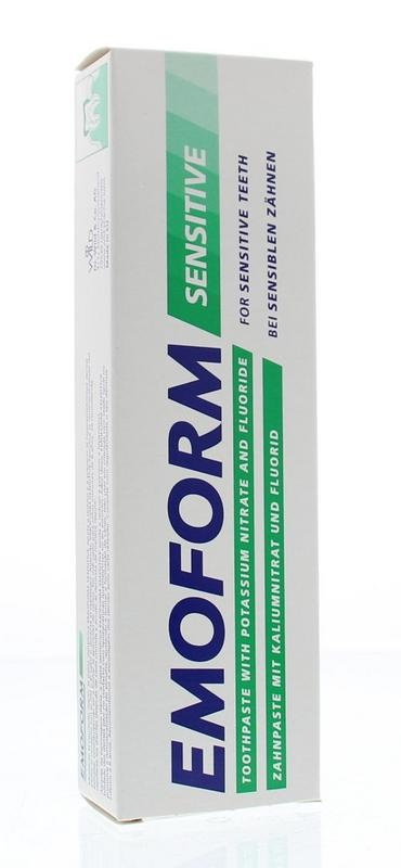 Emoform Emoform Tandpasta sensitive fluoride (75 ml)