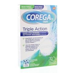 Corega Tabletten triple action (30 tabletten)