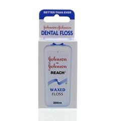 Johnson Dental reach floss waxed 200 meter (1 stuks)