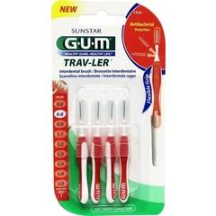 GUM Trav-ler rager 0.8 mm (rood) (4 stuks)
