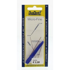 Duodent Interdentaal borstel microfine 0.5 (6 stuks)