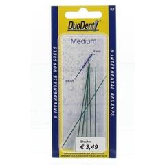Duodent Interdentaal borstel medium 0.9 (6 stuks)