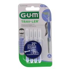 GUM Trav-ler rager 0.6 mm (lavendel) (4 stuks)