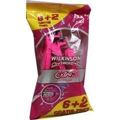 Wilkinson Extra III beauty 6 + 2 (8 stuks)