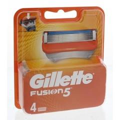 Gillette Fusion 5 Scheermesjes Voor Mannen (4 stuks)