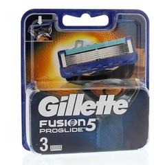 Gillette Fusion proglide manual mesjes (3 stuks)