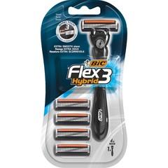 BIC Flex3 hybrid shaver black 4 (4 stuks)