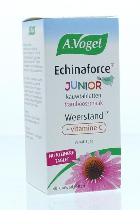 A Vogel A Vogel Echinaforce junior & vitamine c (80 kauwtabletten)