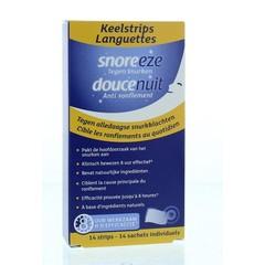 Snoreeze Anti snurk keelstrips (14 stuks)