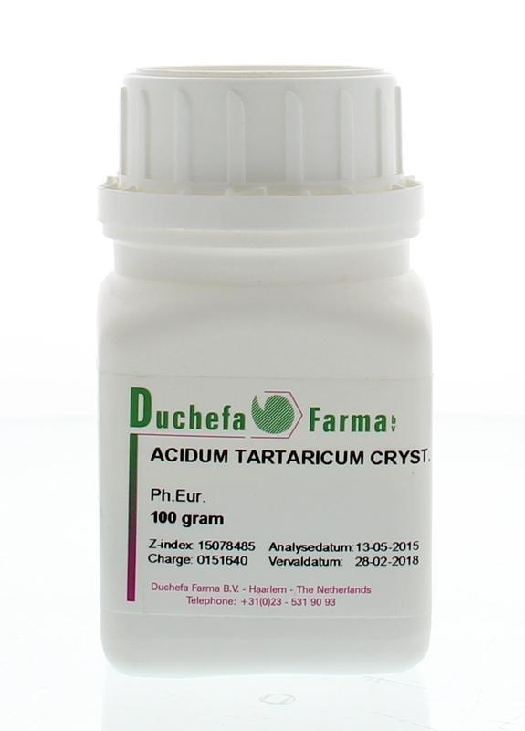 Duchefa Farma Duchefa Farma Acidum tartaricum crystal (100 gram)
