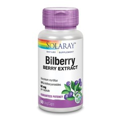 Solaray Bilberry blauwe bosbes 60 mg (60 vcaps)