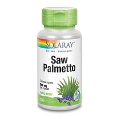 Solaray Serenoa zaagpalm bes 580 mg (100 vcaps)