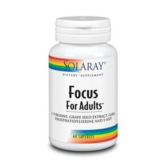Solaray Focus for adults L-tyrosine & GABA (60 vcaps)