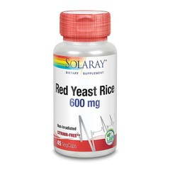 Solaray Rode gist rijst 600 mg (45 vcaps)