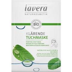 Lavera Sheetmasker purifying (1 stuks)