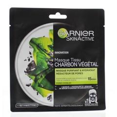 Garnier Skin active tissue mask charcoal (28 gram)