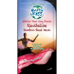 Earth Kiss Gezichtsmasker revitalise bamboo sheet (24 gram)