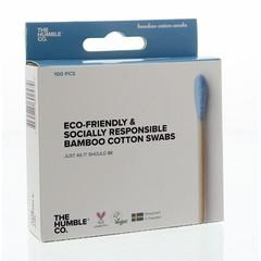 Humble Brush Wattenstaafjes bamboe blauw (100 stuks)