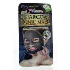 Montagne 7th Heaven face mask charcoal tonic sheet (1 stuks)