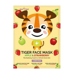 Montagne Tiger sheet face mask apple & strawberry (1 stuks)