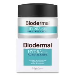 Biodermal Gelcreme nacht hydraplus vochtarme huid (50 ml)