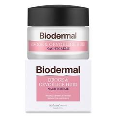 Biodermal Nachtcreme droge en gevoelige huid (50 ml)