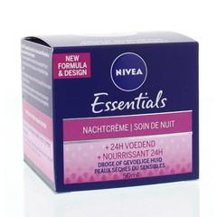 Nivea Essentials nachtcreme droge/gevoelige huid (50 ml)