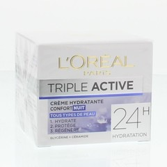 Loreal Dermo expertise triple active nachtcreme (50 ml)